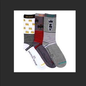 3 pair of JEAN-MICHEL BASQUIAT socks